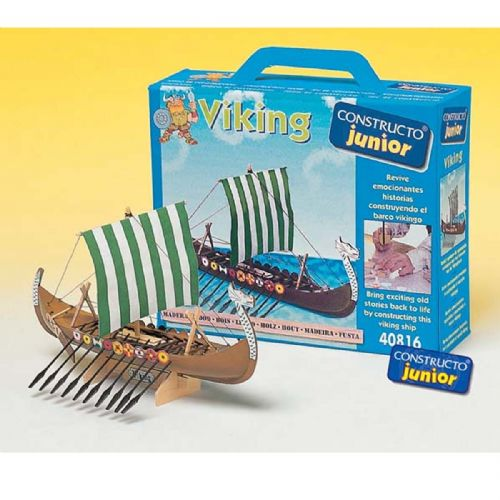 Constructo Junior Wooden Viking Boat Kit
